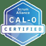Bild: Zertifizierungs Badge 'Certified Agile Leadership - for Organizations' der Scrum Alliance
