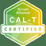 Bild: Zertifizierungs Badge 'Certified Agile Leadership for Teams' der Scrum Alliance