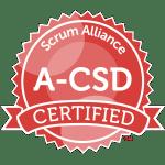 Bild: Zertifizierungs Badge 'Advanced Certified Scrum Developer' der Scrum Alliance