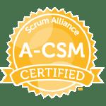Bild: Zertifizierungs Badge 'Advanced Certified ScrumMaster' der Scrum Alliance