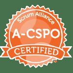 Bild: Zertifizierungs Badge 'Advanced Certified Scrum Product Owner' der Scrum Alliance