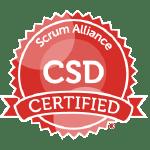 Bild: Zertifizierungs Badge 'Certified Scrum Developer' der Scrum Alliance