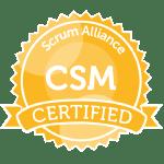 Bild: Zertifizierungs Badge 'Certified ScrumMaster' der Scrum Alliance