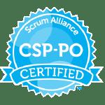 Bild: Zertifizierungs Badge 'Certified Scrum Professional - Product Owner' der Scrum Alliance
