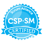 Bild: Zertifizierungs Badge 'Certified Scrum Professional - Scrum Master' der Scrum Alliance
