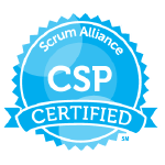 Bild: Zertifizierungs Badge 'Certified Scrum Professional' der Scrum Alliance