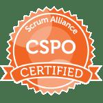 Bild: Zertifizierungs Badge 'Certified Scrum Product Owner' der Scrum Alliance